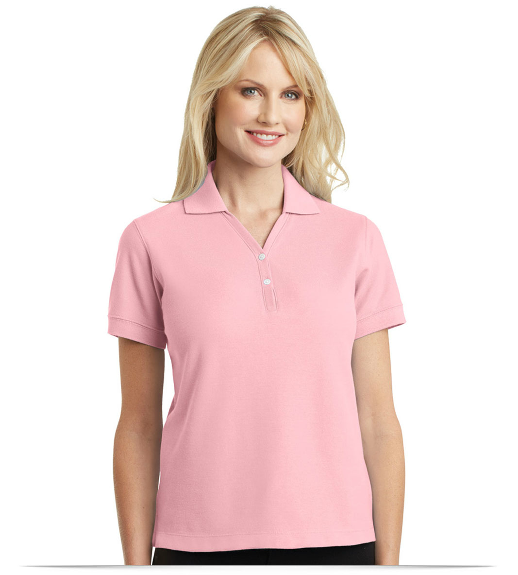 63a9d73552b 100% Cotton Embroidered Polo Shirt For Women