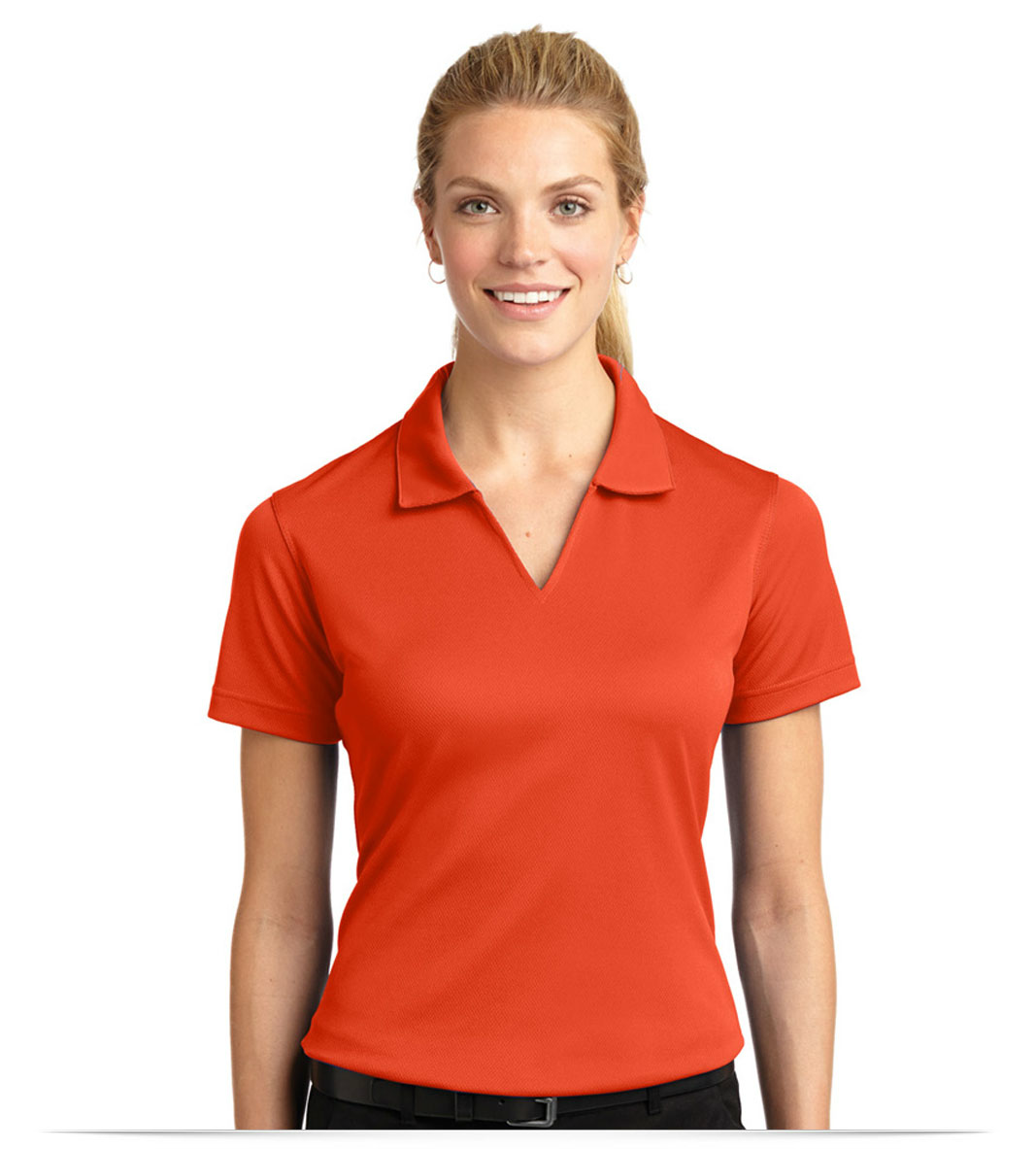 Design Embroidered Ladies Dri Mesh V Neck Sport Shirt Online