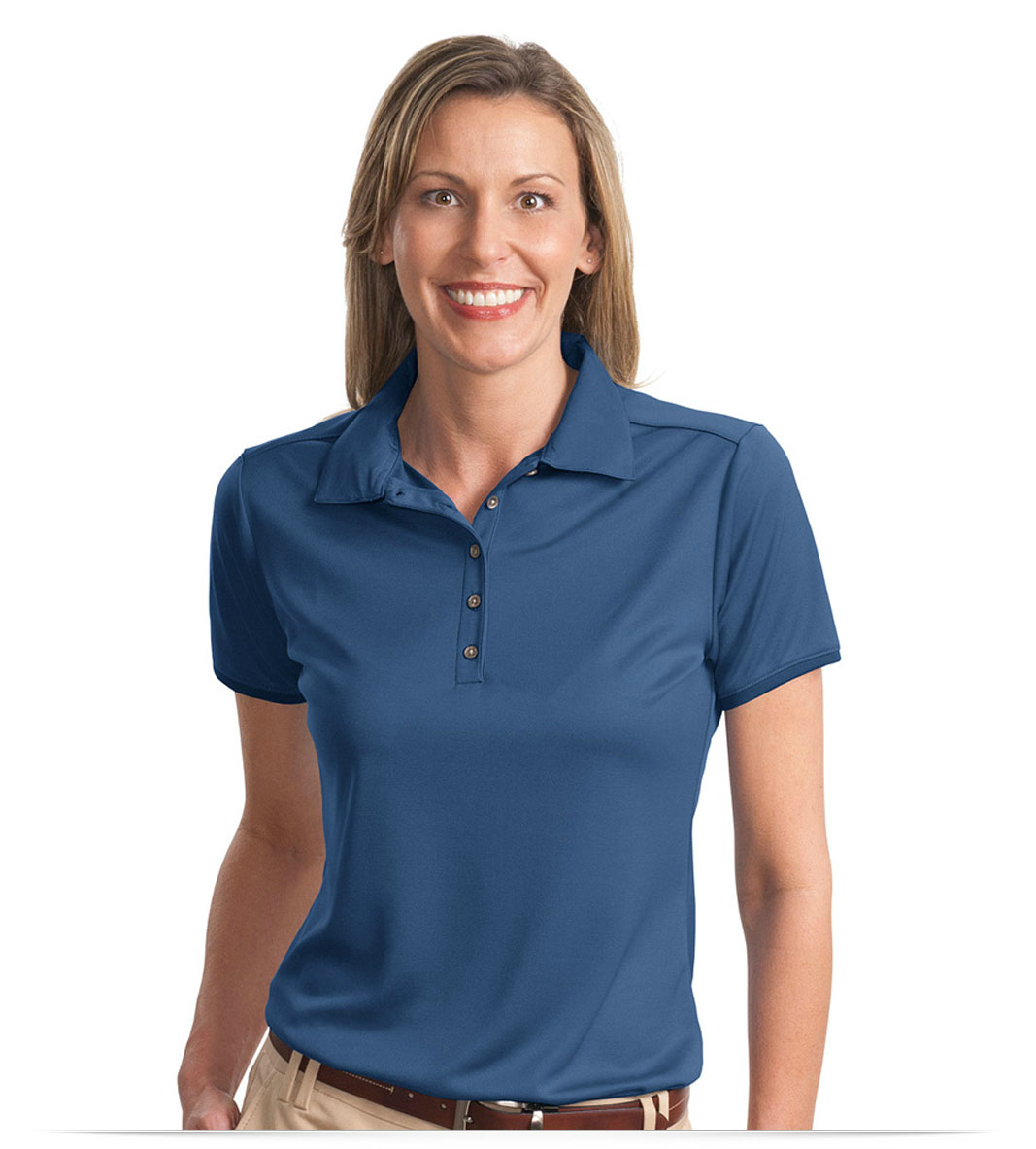 Design Embroidered Ladies Poly Bamboo Polo Online At Allstar Logo