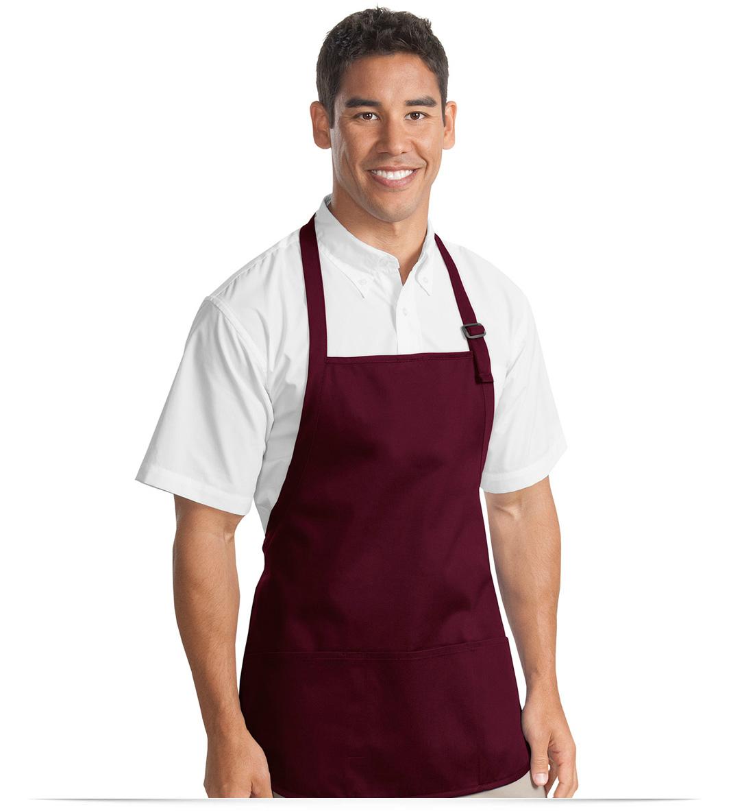 White apron online - Custom Logo Apron