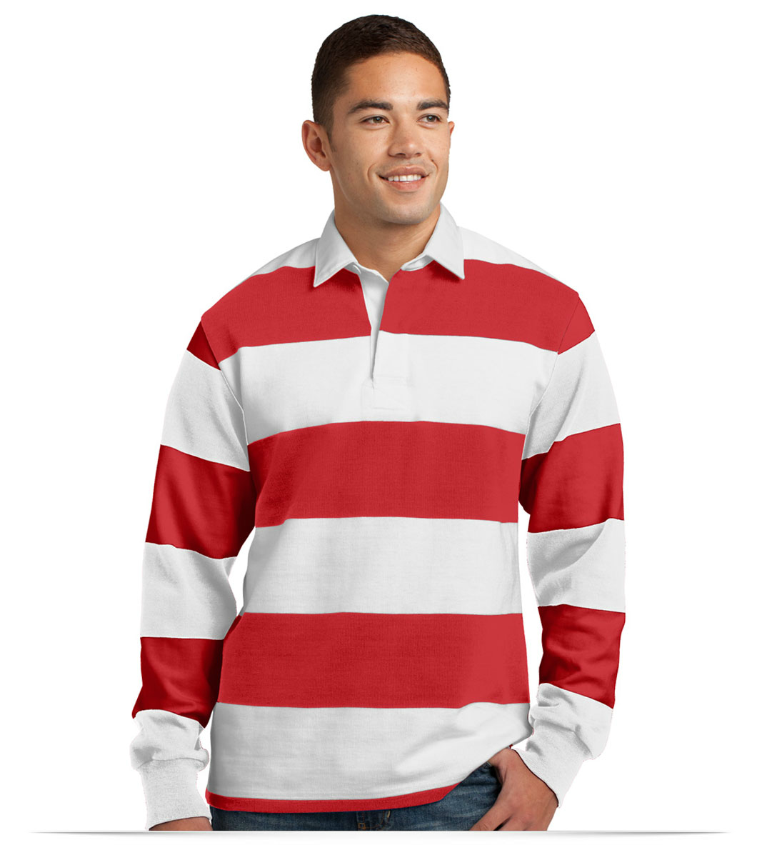 Design Embroidered Sport Tek Long Sleeve Rugby Polo Online