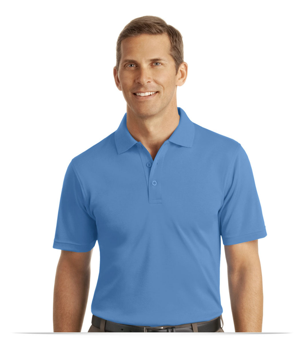 a8b60bea4 Personalized Port Authority Silk Touch Interlock Polo