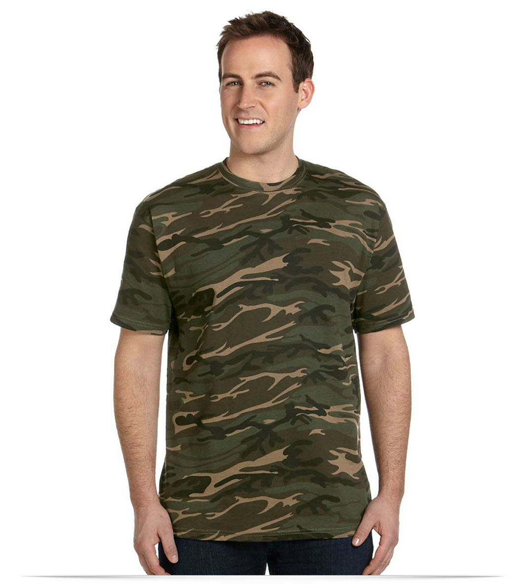 Custom Printed Anvil Midweight Camouflage T Shirt Online At Allstar Logo