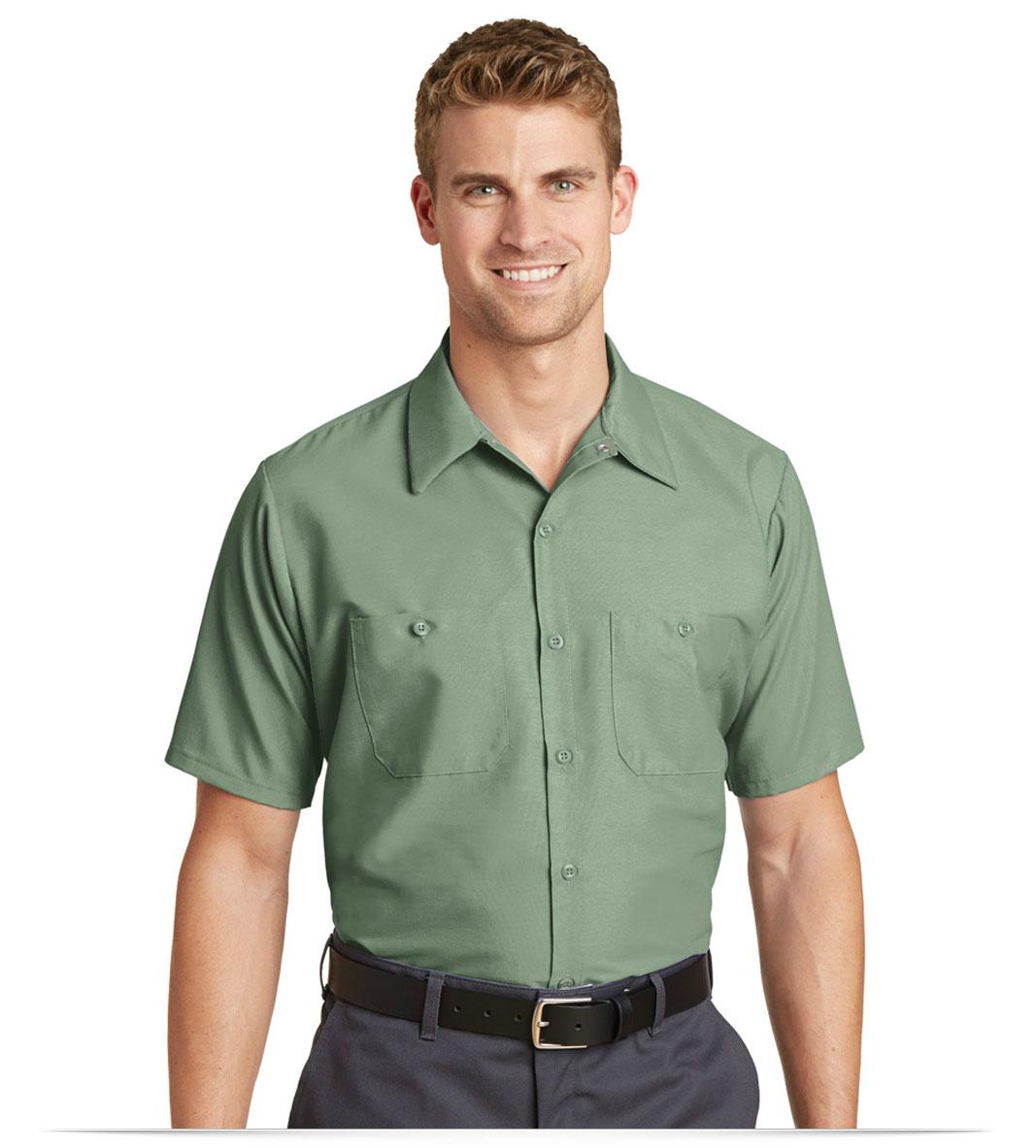 83a4525bdf0f55 Custom Red Kap Short Sleeve Industrial Work Shirt Online at AllStar Logo