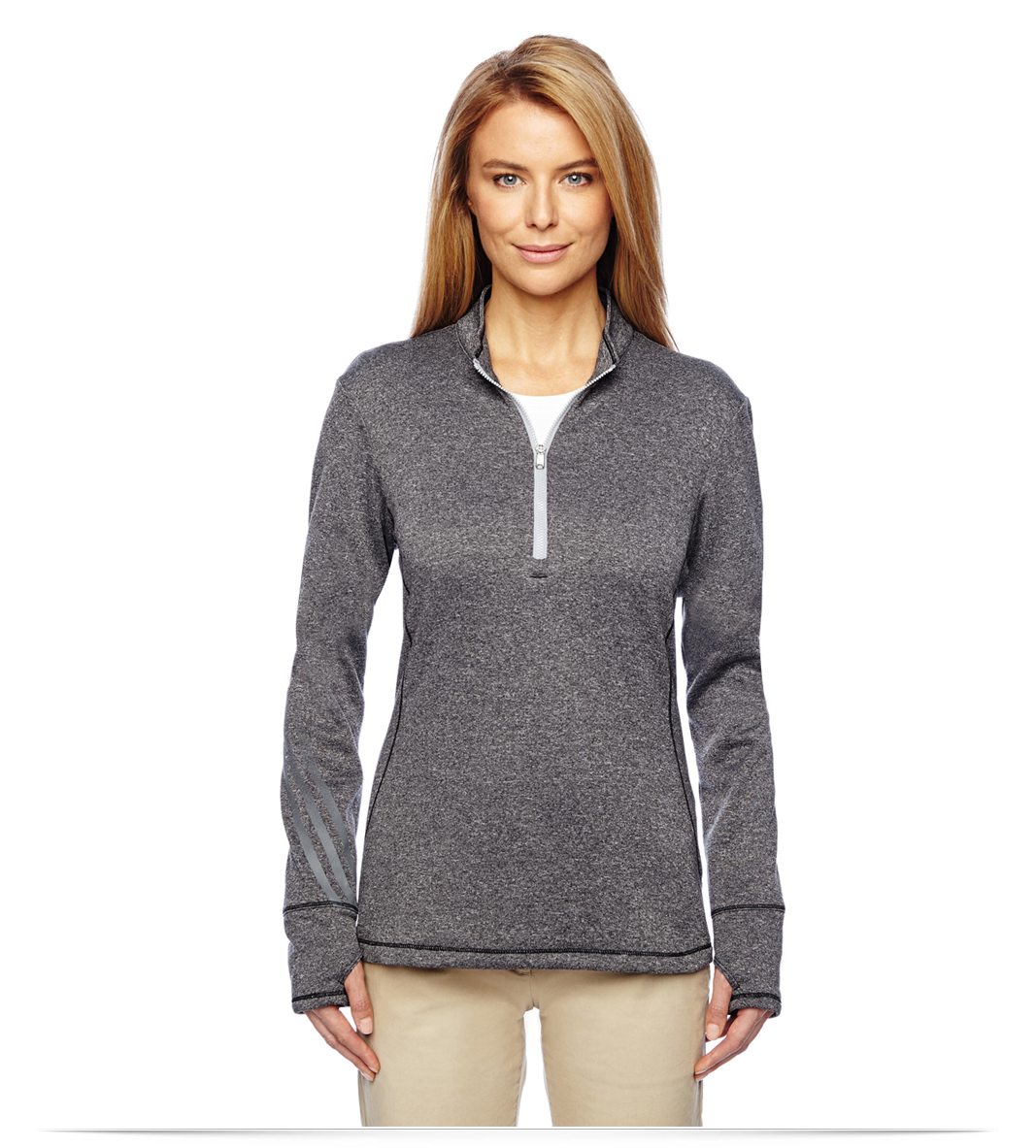 Customize Adidas Golf Ladies Brushed Terry Heather Quarter-Zip Online