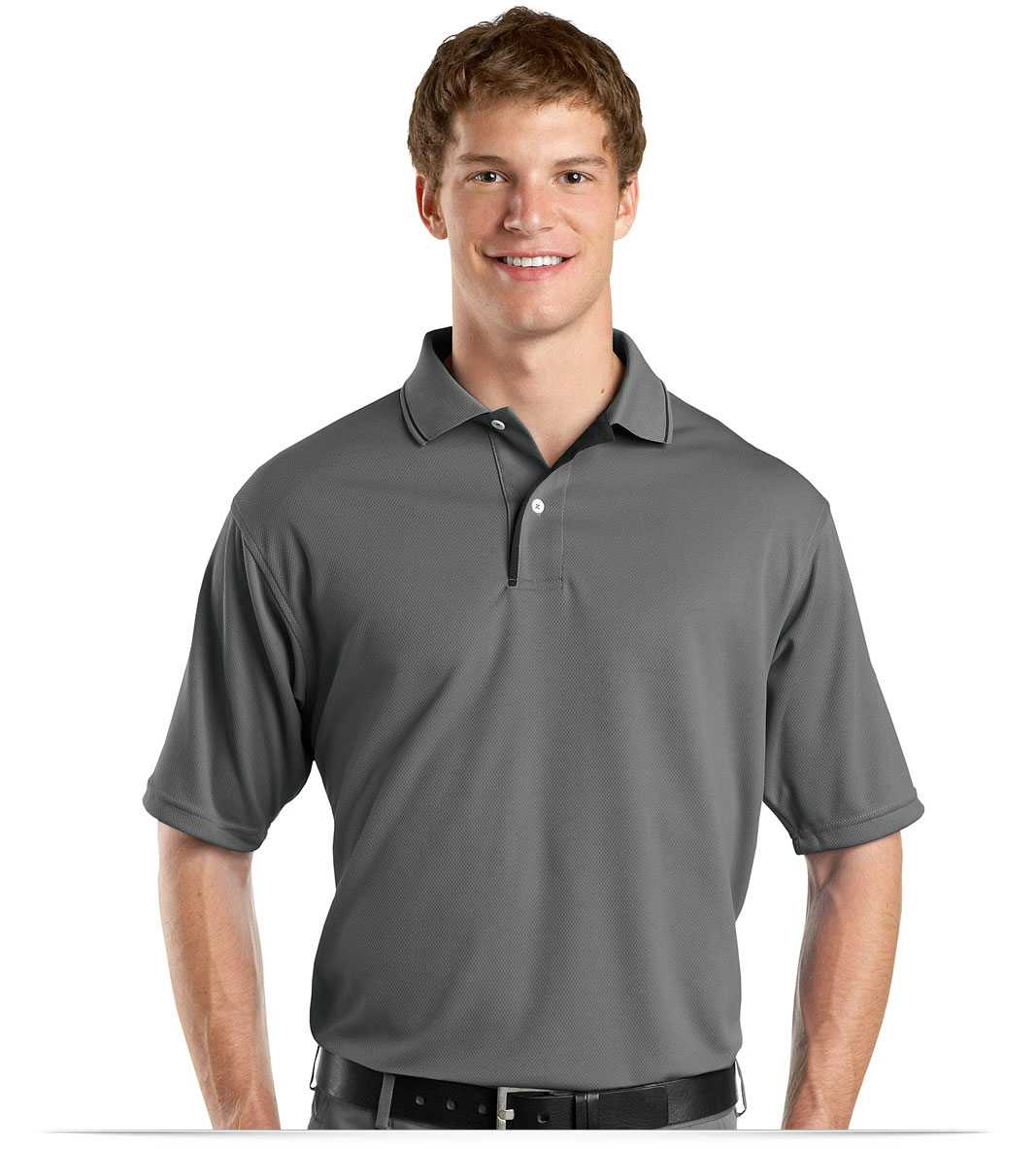 Design Embroidered Dri Mesh Polo Shirt With Striped Collar Online