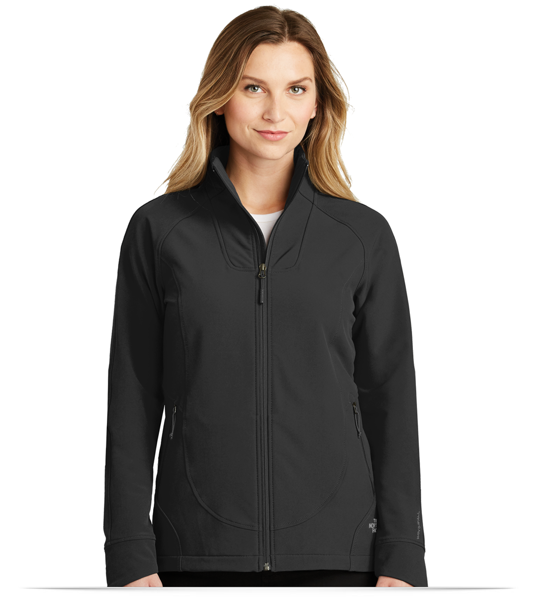7a4291496fb8 The North Face Ladies Tech Stretch Soft Shell Jacket - AllStar Logo