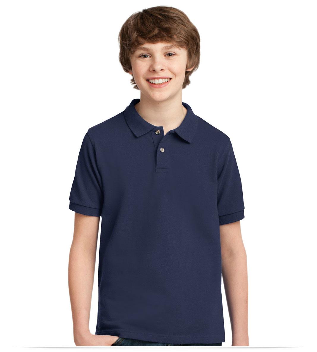 Design Embroidered Allstar Logo Custom Logo School Polo Shirt Online