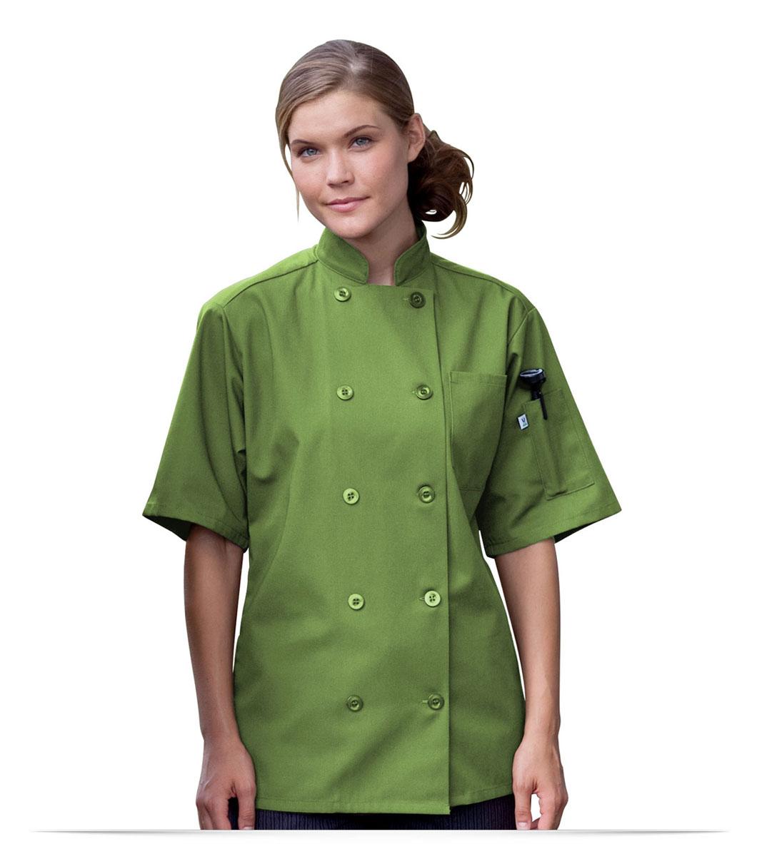 Personalized Logo 10 Button Short-Sleeve Chef Jacket