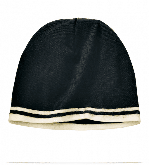 Embroidered Knit Hat with Earflaps