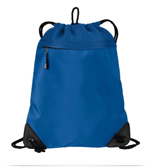 Customize Logo Cinch Bag with Mesh Trim