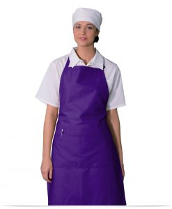 Embroidered Divided Pocket Bib Apron