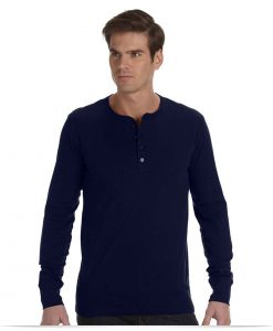 Customize Henley Long Sleeve