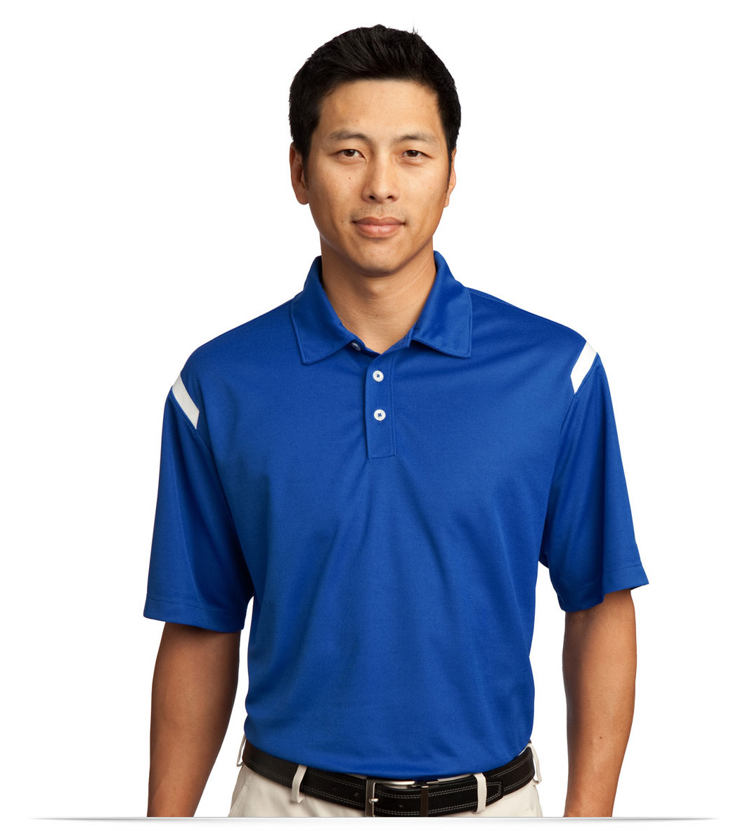 Custom Nike Dri-FIT Shoulder Stripe Polo