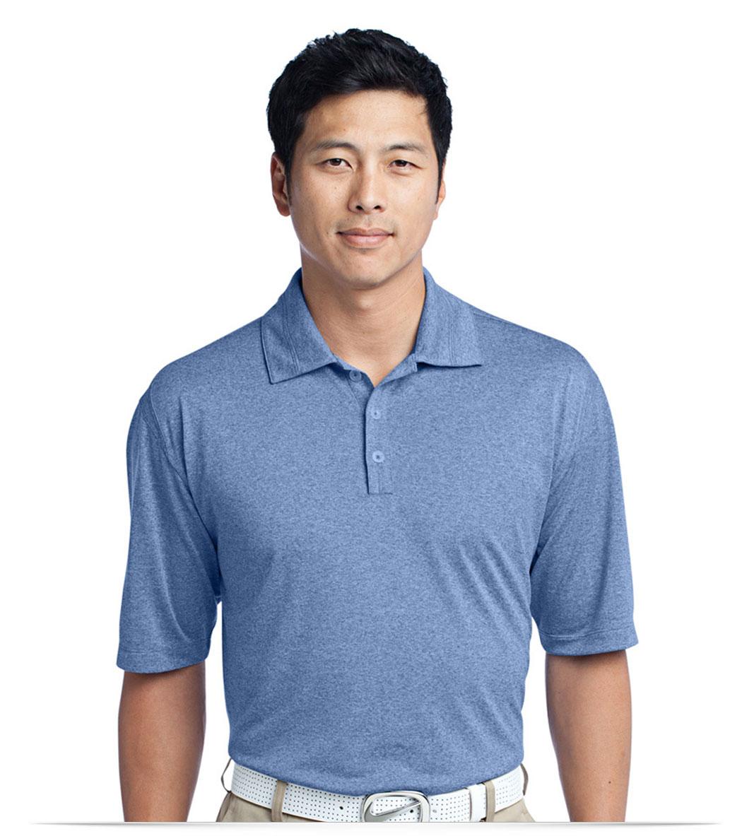 Personalized Logo Nike Golf Dri-FIT Heather Polo