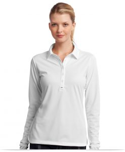 Embroidered Logo Nike Golf Ladies Long Sleeve Polo