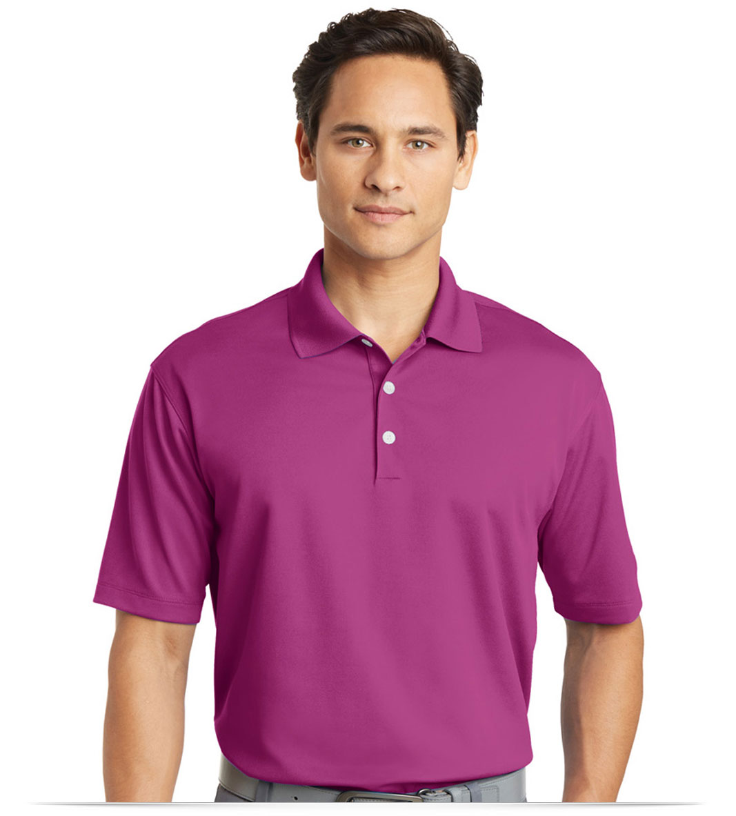 Design embroidered nike golf tall dri fit micro pique polo for Big tall nike golf shirts