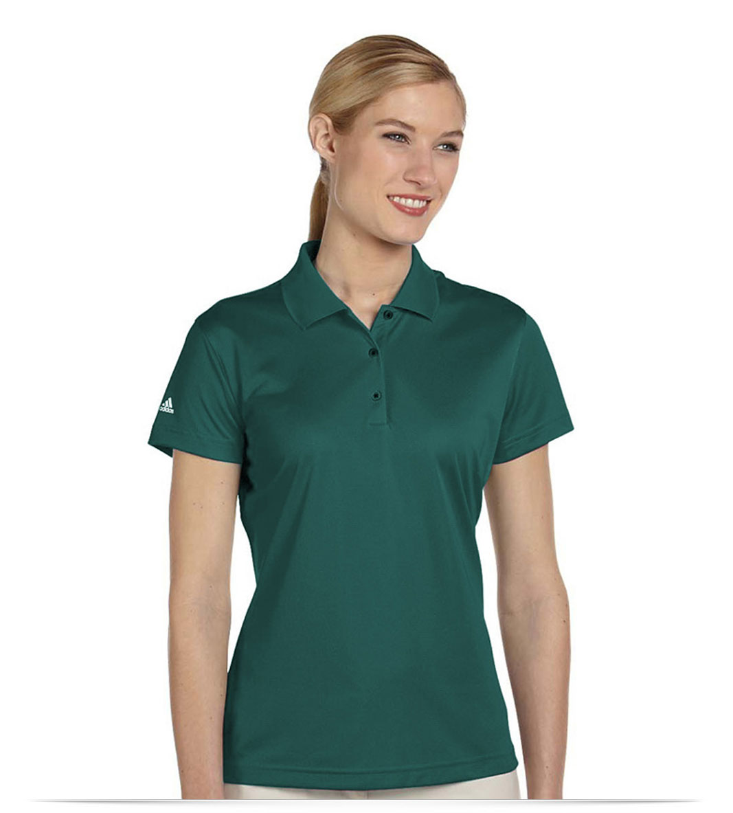 Design embroidered adidas ladies basic polo shirt online for Design polo shirts online