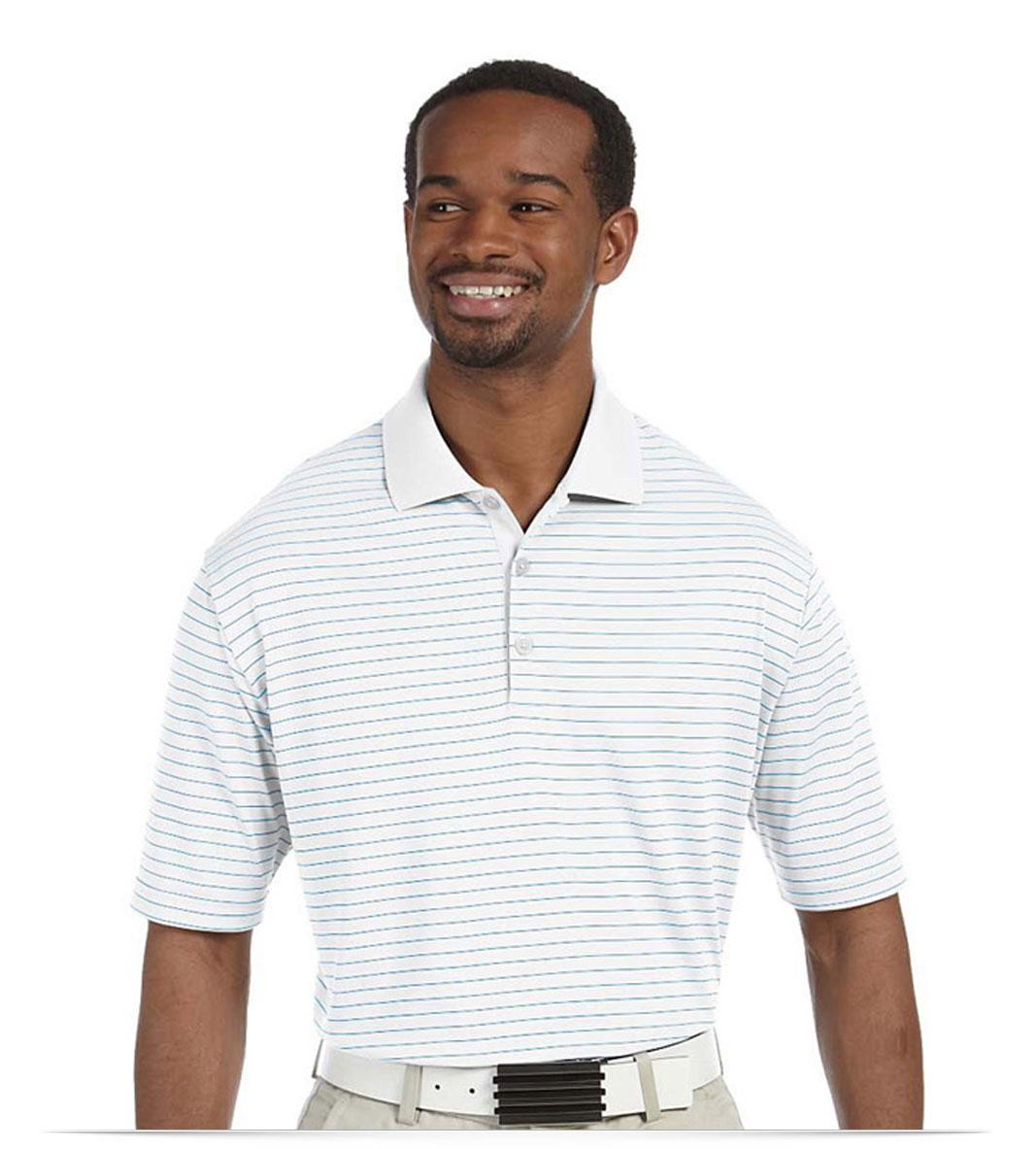 Custom Adidas Stripped Polo Shirt