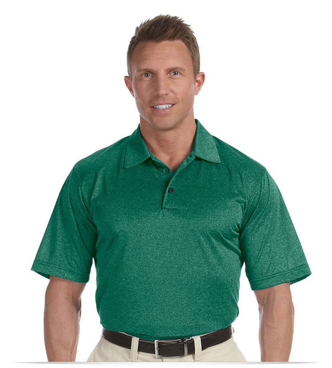 Personalized Adidas Golf Mens Heather Polo