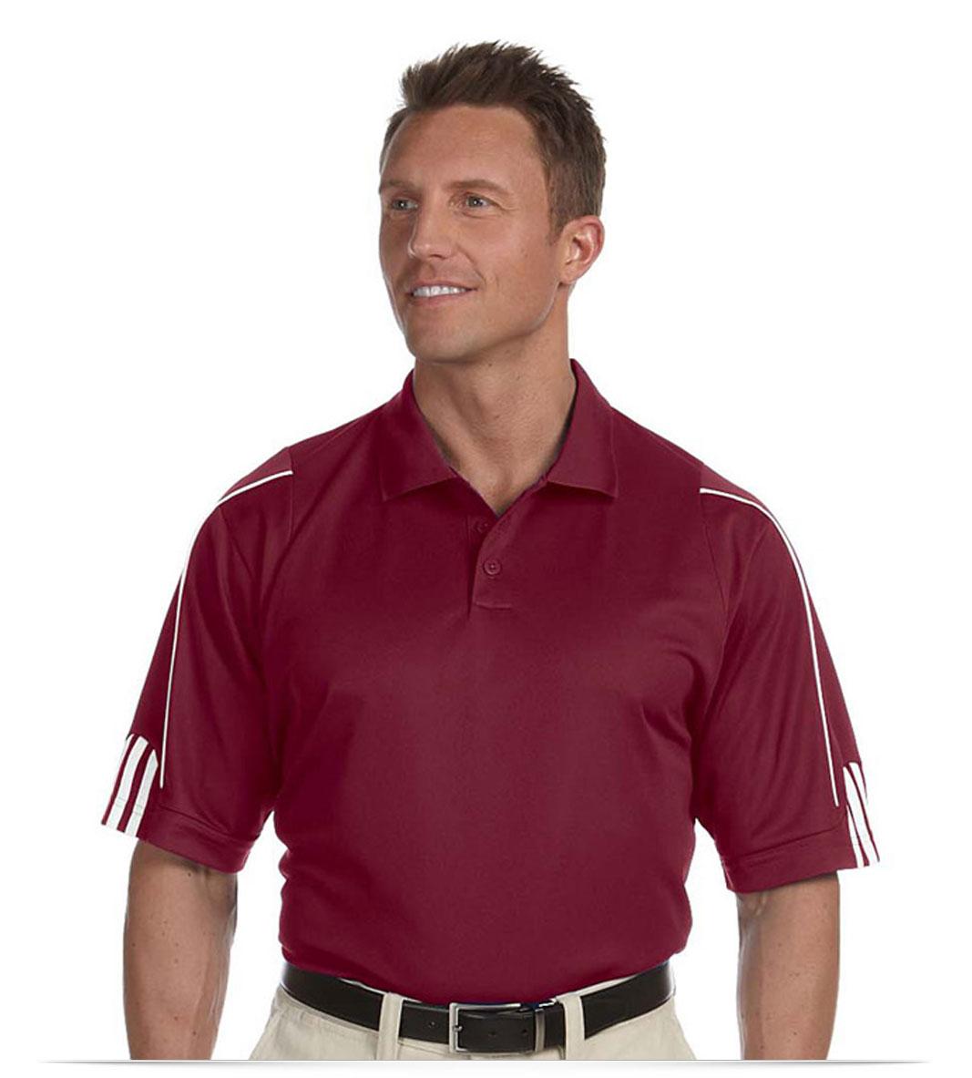 Customize Adidas Men's Stripe Golf Shirt