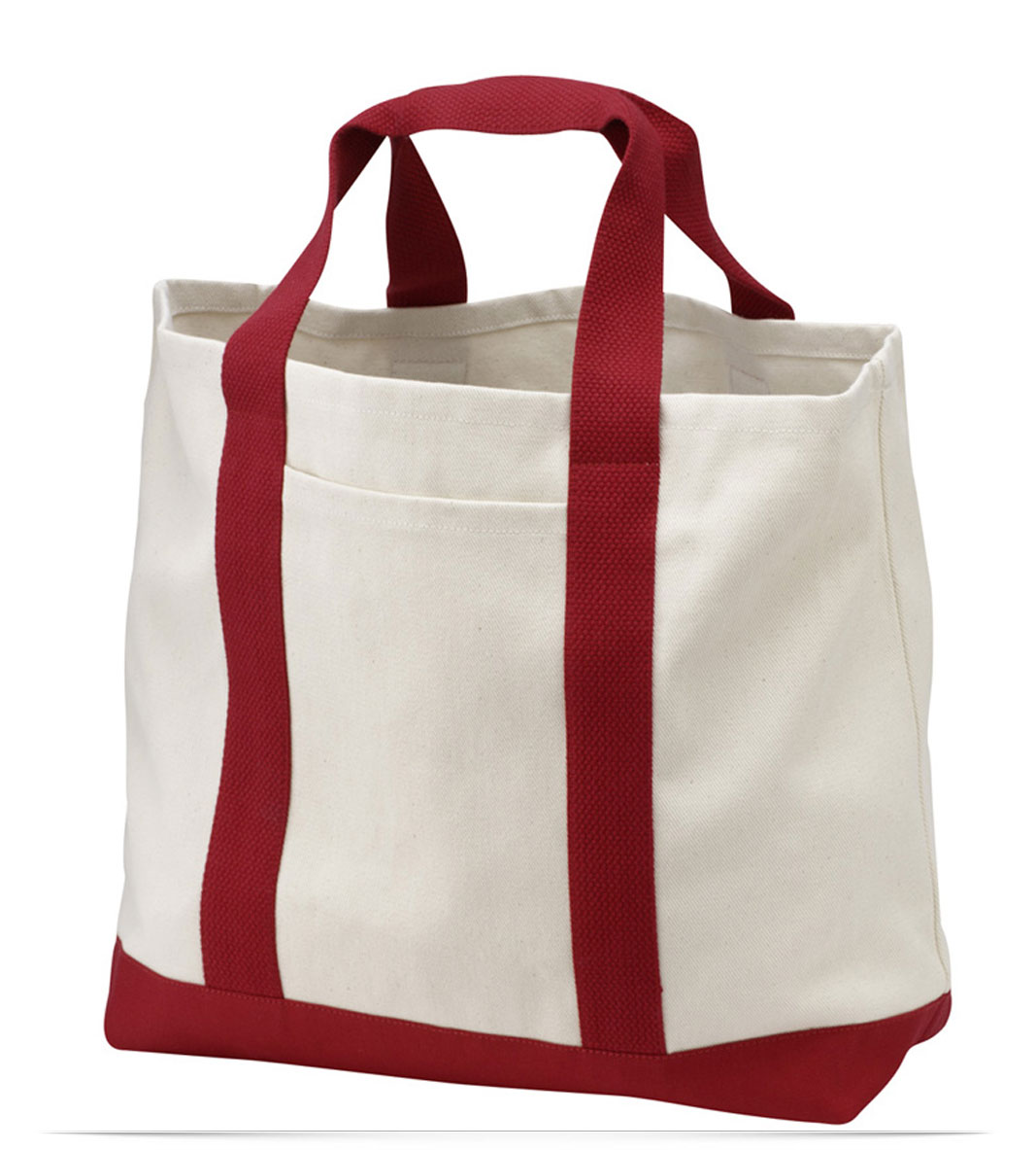 Embroidered Logo Tote Bag Two Tone