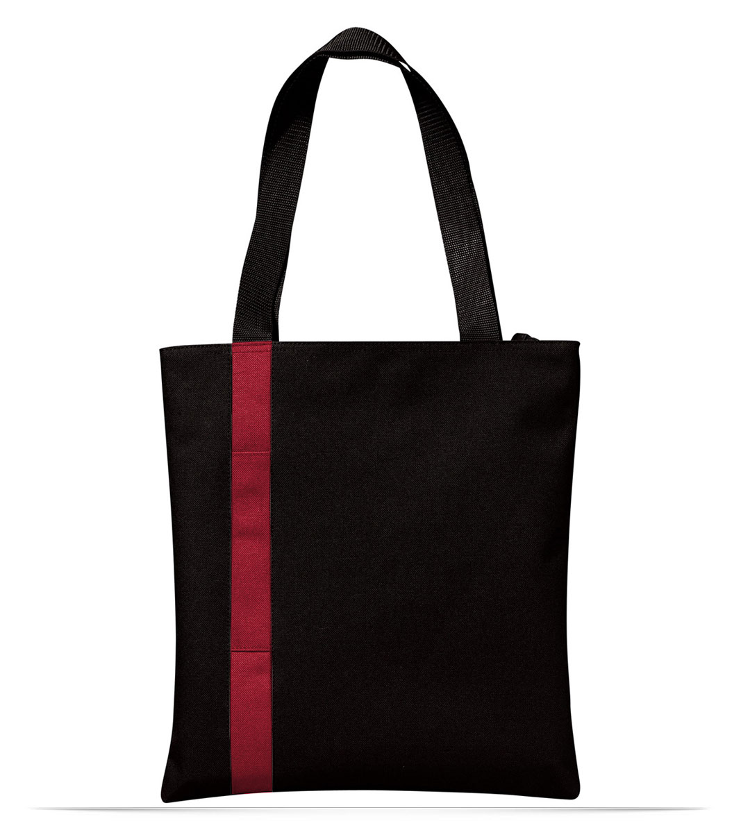 Custom Embroidered Logo Stripe Tote Bag