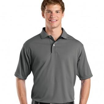 Customize Dri-Mesh Performance Polo shirt with Striped Collar
