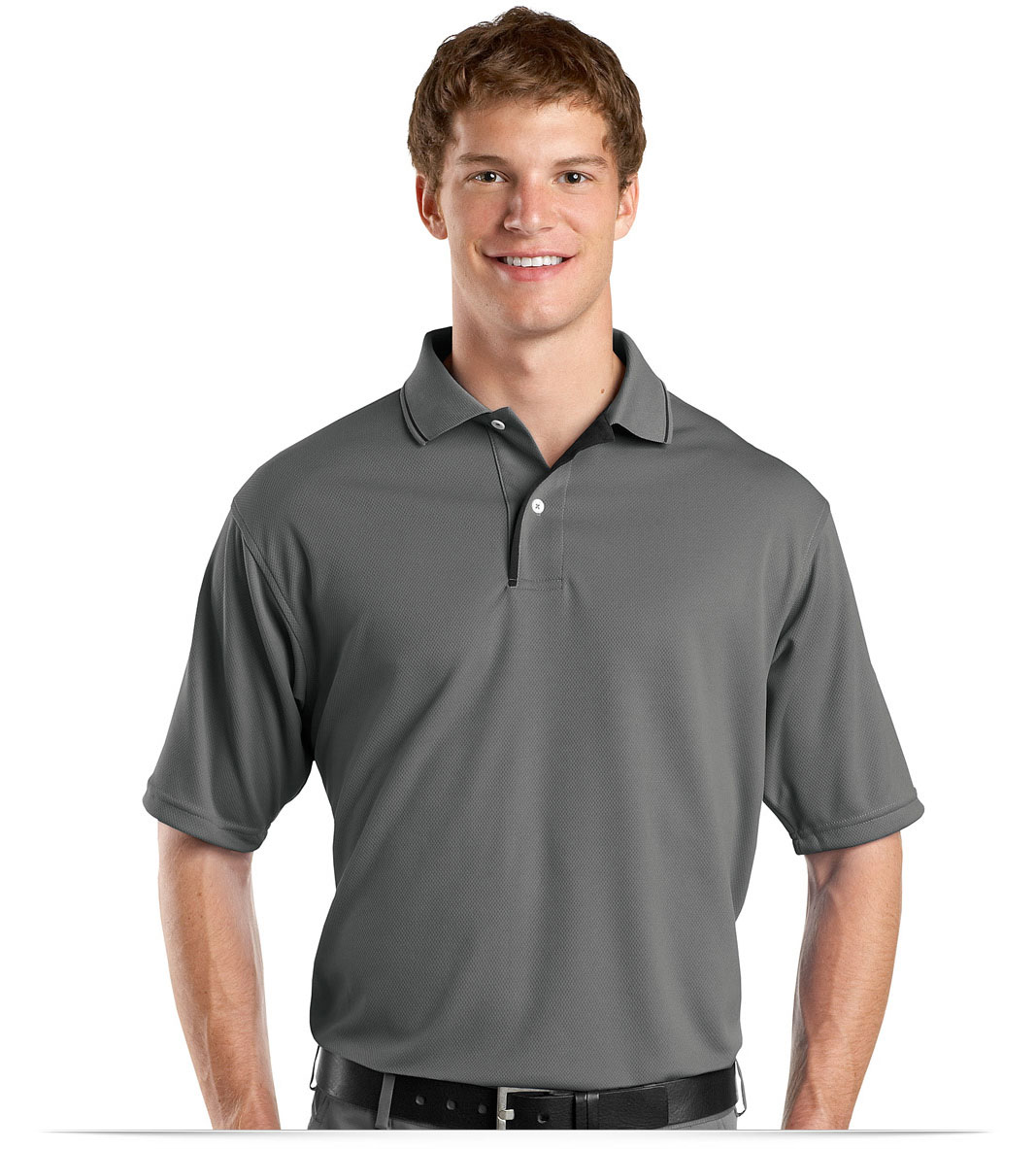 Customize Dri-Mesh Performance Polo shirt with Striped Collar