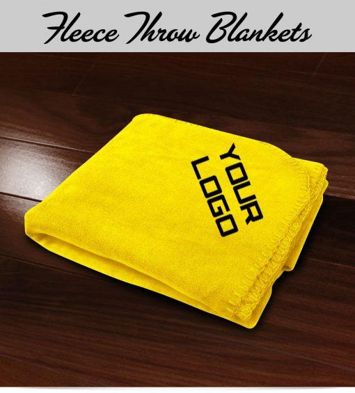 Embroidered Fleece Throw Blanket