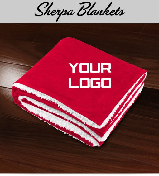 Custom embroidered Sherpa Blankets
