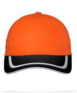 Embroidered Safety Cap with High Visibility Reflective Tape