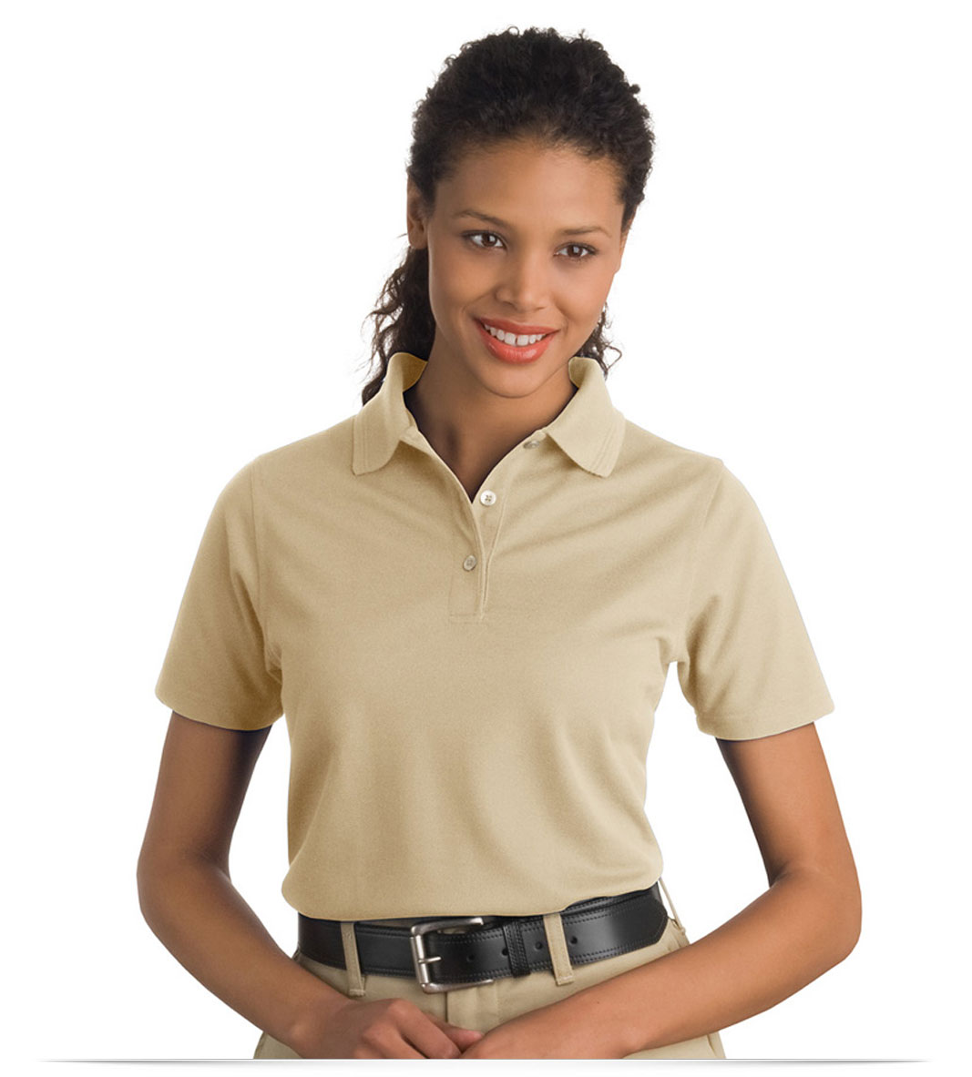 Embroidered Ladies Short Sleeve Polo Shirt