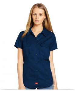 Customize Dickies Women's Short Sleeve Work Shirt