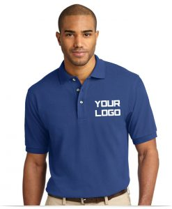 Custom Embroidered Logo Pique Polo Shirt