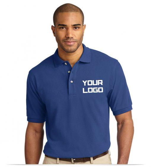 Custom Embroidered Logo Pique Polo Shirt