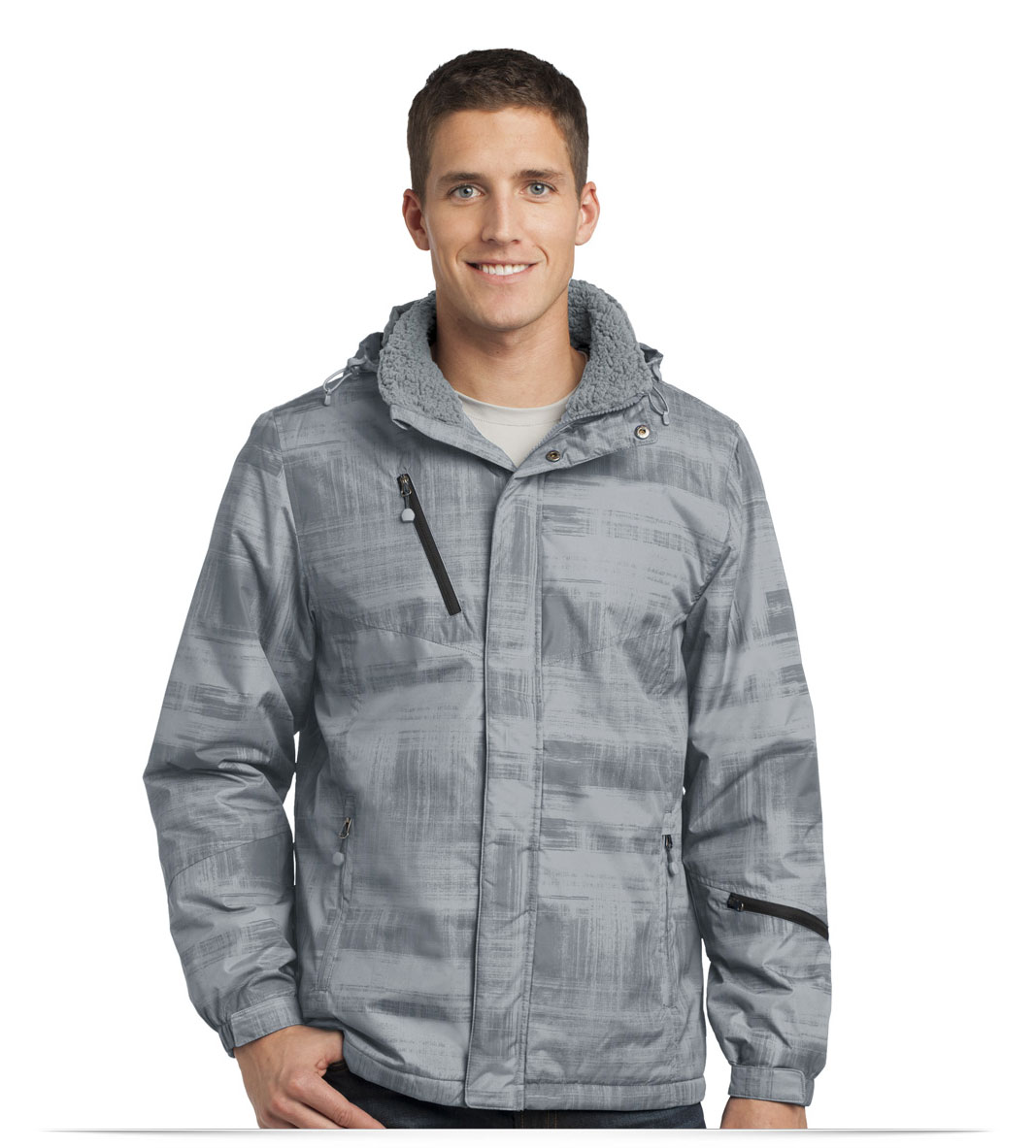 Personalized Port Authority Brushstroke Print Insulated Jacket