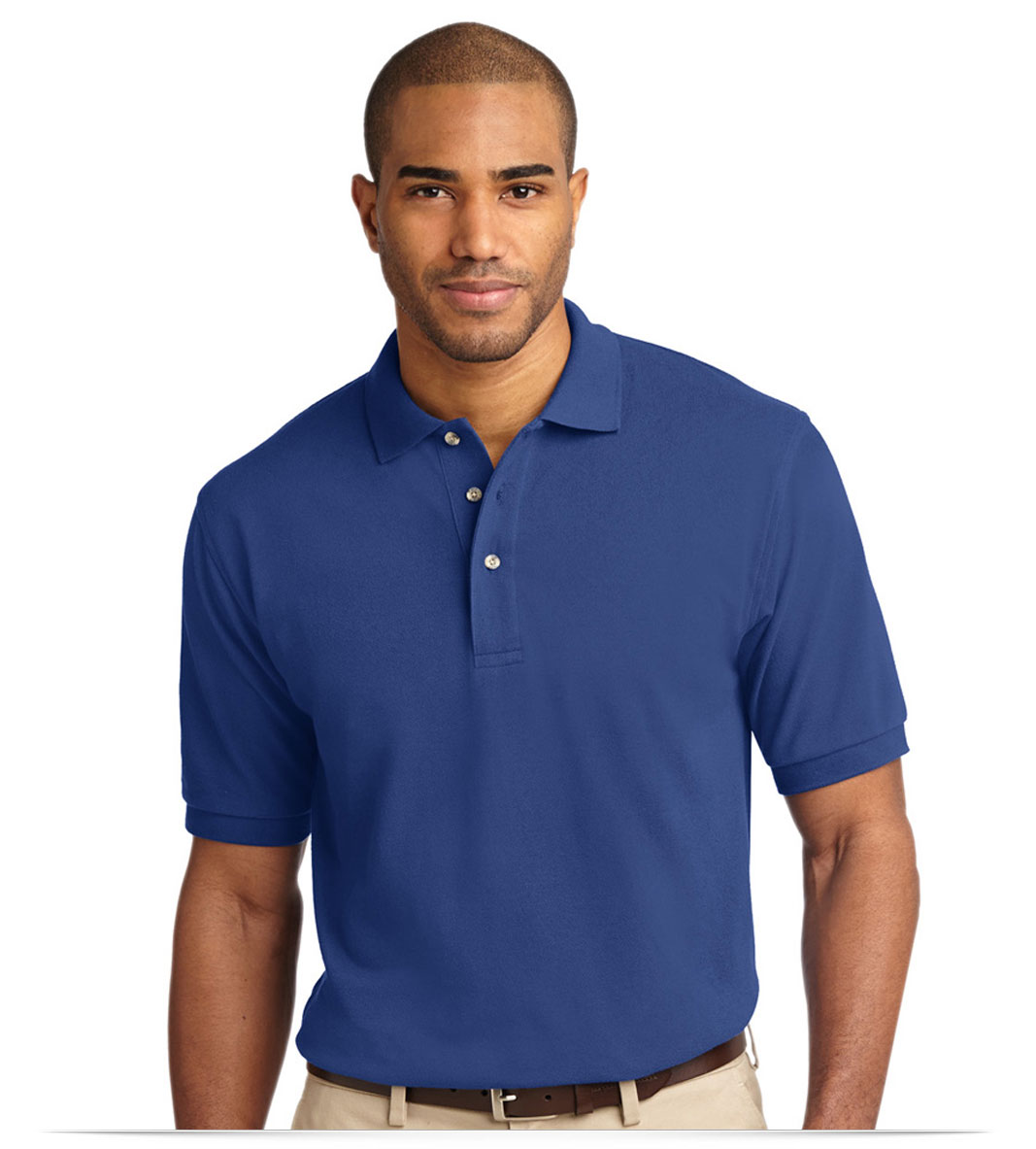 Embroidered Logo Pique Polo Shirt