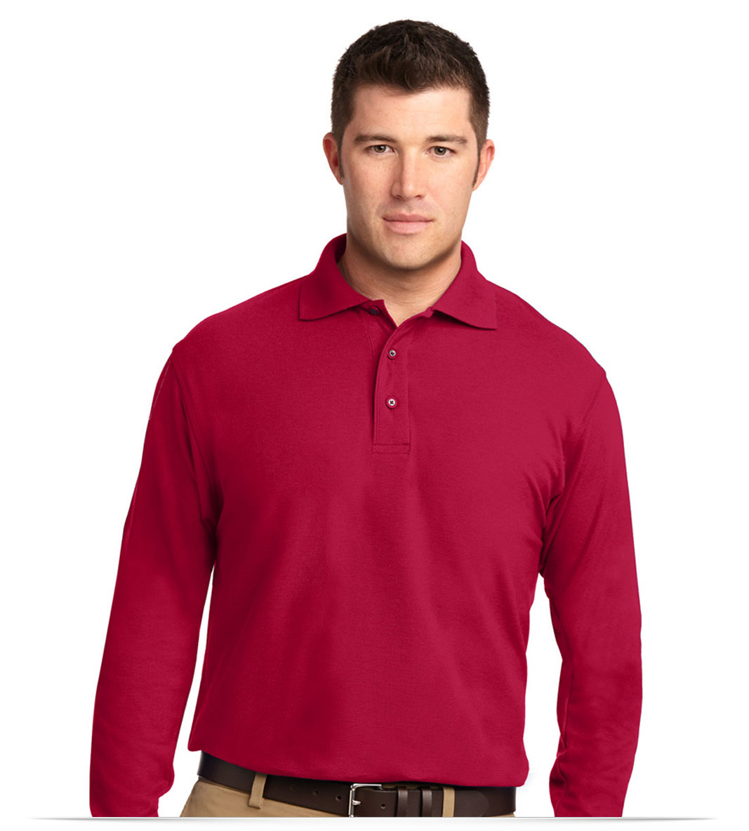 Custom Long Sleeve Polo Shirt