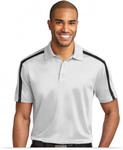 Personalized Dri-Fit Stripe Polo Shirt