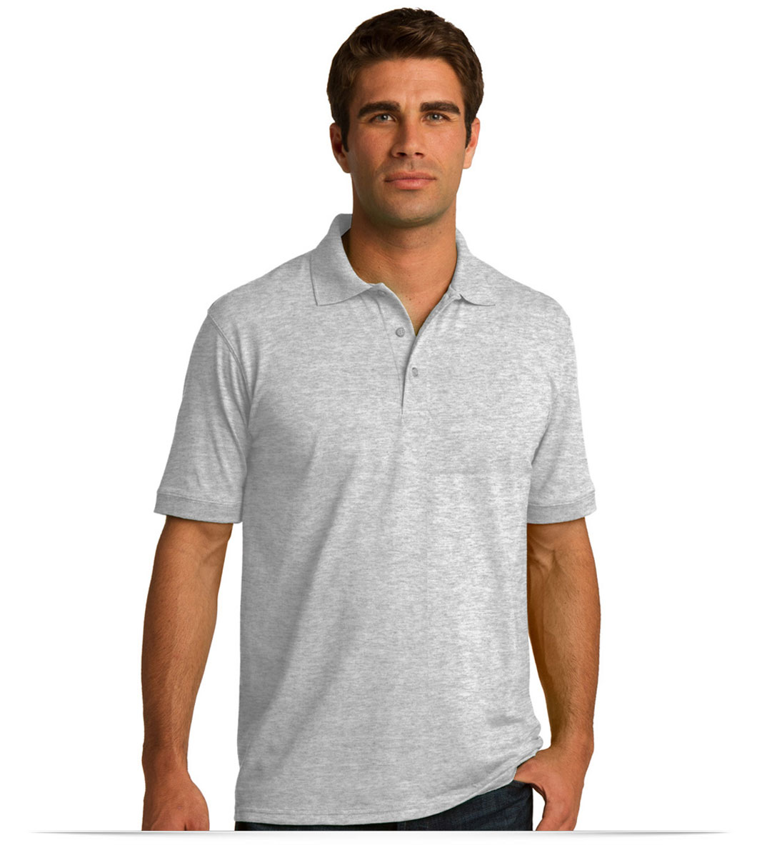 Custom Jersey Knit Polo Shirt