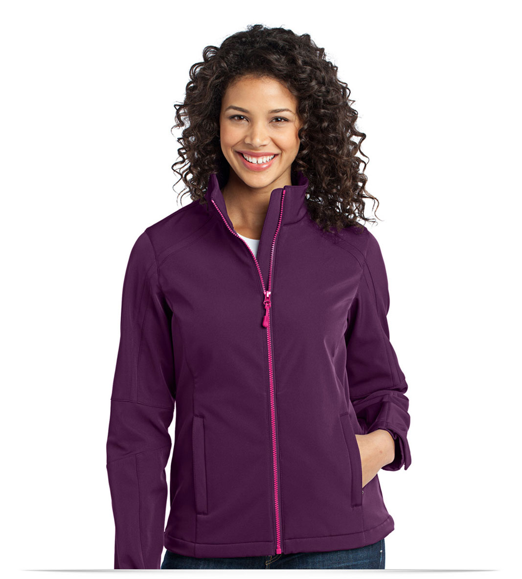 Embroidered Ladies Traverse Soft Shell Jacket