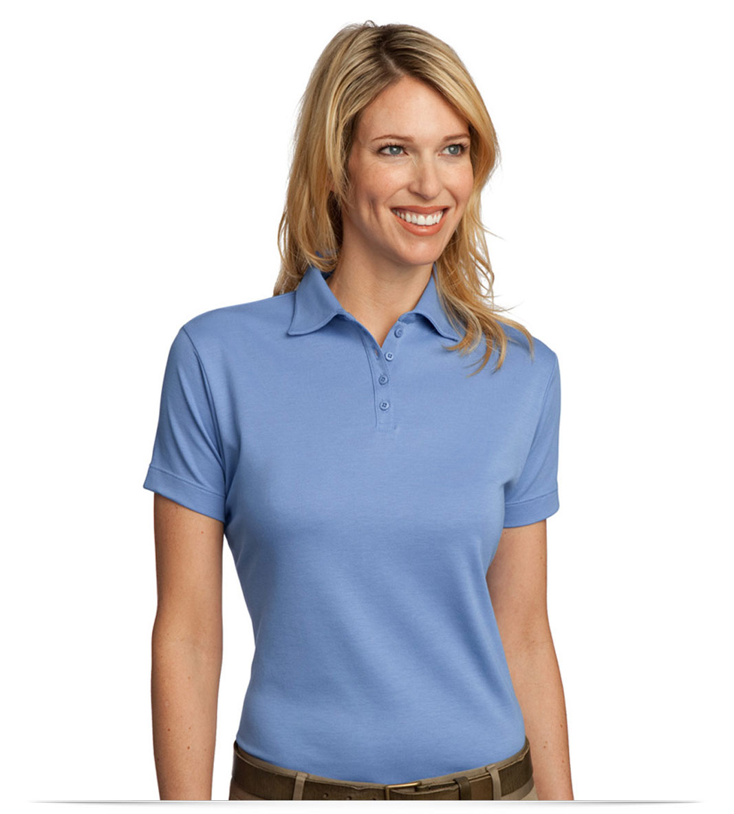 Design Embroidered Custom Ladies Pima Cotton Golf Shirt Online