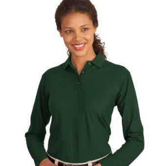 Custom Long Sleeve Polo Shirt Ladies
