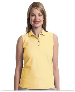 Customize Sleeveless Polo Shirt-Ladies