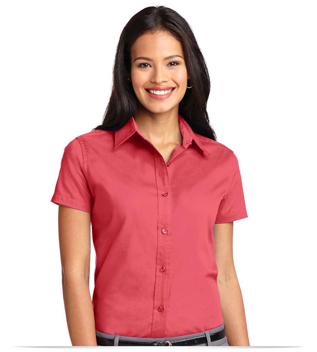 Customize Women's Short Sleeve Easy Care Twill Shirt