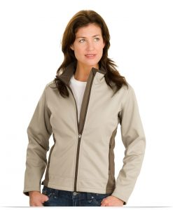 Embroidered Ladies Two-Tone Soft Shell Jacket
