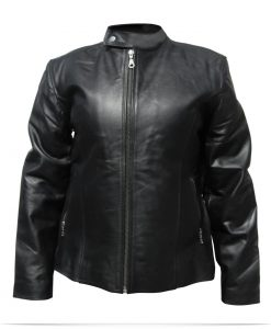 Personalized Logo Ladies Leather Jacket