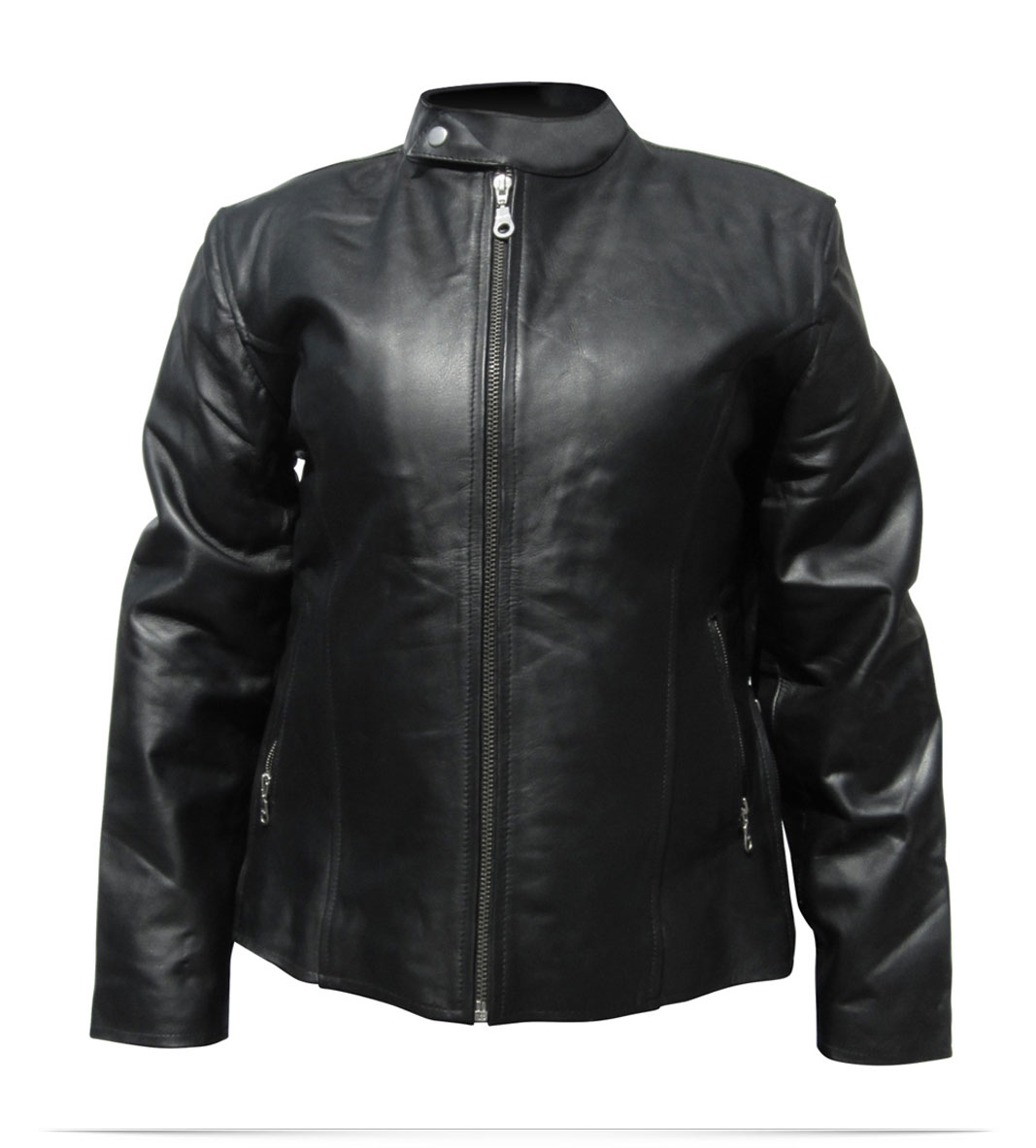 Design embroidered ladies custom leather jacket online at for Leather jacket and shirt