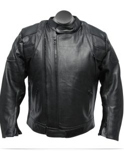 Custom Logo Men's Vigor Leather jacket